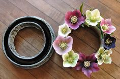 Hellebores have become hugely popular with American gardeners--and here's the perfect way to show off these early Spring beauties. Great for displaying pansies and small dahlias. English terracotta--thickly glazed on top and inside the ring to hold water Spring Flower Arrangements, Spring Flowers, Garden Coffee Table, Lawn Edging, Garden Gifts, Early Spring, Garden Planters, Outdoor Life, Garden Planning