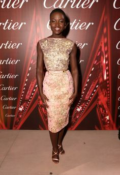 Lupita Nyong'o at the Palm Springs International Film Festival in Elie Saab Haute Couture