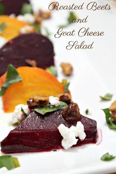 Roasted Beet and Goat Cheese Salad With Toasted Walnuts and White Wine Vinaigrette Dressing - Having Fun Saving & Cooking #CKMondaviWines #pairNpost  #sponsored