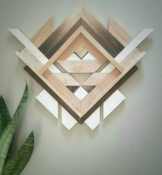 Geometric Wood Wall Art by Amanda Millner McAdoo