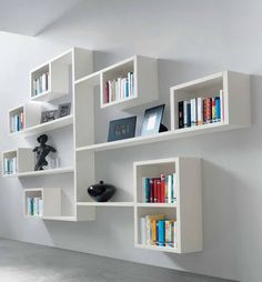 bookcases wall mounted - Google Search