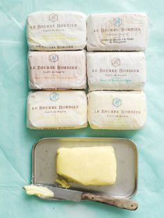 Different Bordier Butter / Différents beurres Bordier par Trish Deseine
