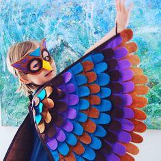 Gufo COSTUME / / Soft Flappable Wings / macchina di TreeAndVine