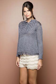 Bata Crochet Annecy Netuno - Vanessa Montoro - vanessamontoro