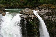 Nooksack Falls! Fun fact: the falls were featured in 'The Deer Hunter' in 1978. Photo: 'mschrum73'
