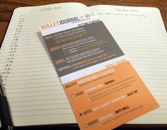 I created this simple reference card to use with the Bullet Journal system of organization.