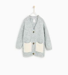 Image 1 of CARDIGAN WITH CONTRASTING POCKETS from Zara