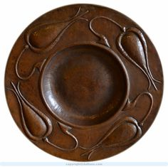 Gustav Stickley copper charger