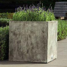 Campania International Farnley Square Planter - Set of 4 - Concrete Lite | from hayneedle.com