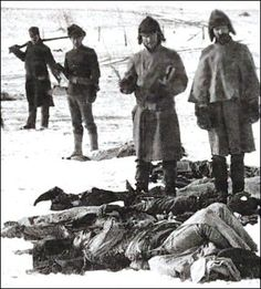 LA TERRIBLE MATANZA DE WOUNDED KNEE -On New Year's Day 1891, a burial party returned to Wounded Knee to find Lakota corpses frozen