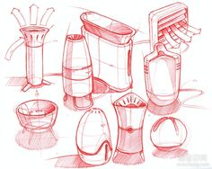 Sketch-A-Day: Daily Sketches from Industrial Designer, Spencer Nugent - Page 424 Object Drawing, Line Drawing, Drawing Sketches, Drawings, Drawing Ideas, Sketch Design, Layout Design, Design Art, Paper Design