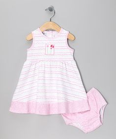Take a look at this Pink Tiny Flower Dress & Diaper Cover - Infant & Toddler by New Potatoes on #zulily today!