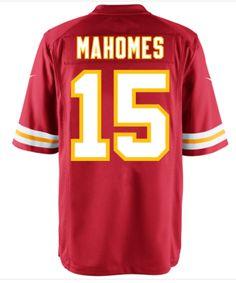 Men's Kansas City Chiefs #15 Patrick Mahomes II Red Nike NFL Elite Jersey