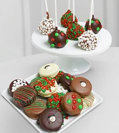 Golden Edibles™ Belgian Chocolate Covered Oreo® Cookies & Cake Pops - 21 piece