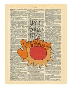 Another great find on #zulily! 'My Sunshine' Dictionary Print #zulilyfinds