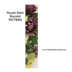 Peyote Bracelet Pattern Beautiful Hellebores 2 by PalacePatterns