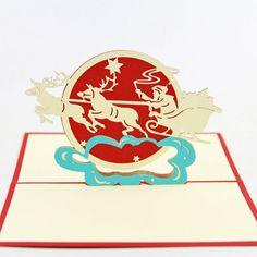 3D  kirigami card/ 2015 Hot  personalized Moon festival invitations card