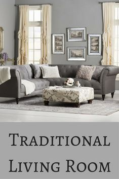 Beautiful Gray Living Room I Love Traditional Home Dcor So This