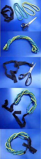 Moi je joue: DIY Sales - Ribbon Necklace