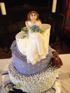 Fondant bride cake topper