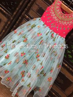 Needles n Threads, Nish*tha celebrations,Kings court avenue, Nellore Kids Party Wear Dresses, Baby Girl Party Dresses, Kids Dress Wear, Kids Wear, Girls Dresses Sewing, Frocks For Girls, Dresses Kids Girl, Long Frocks For Kids, Girls Frock Design