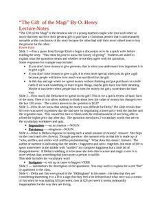 the gift of the magi summary pdf