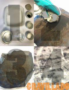 Industrialmente, este proceso es aplicado a telas que previamente estén teñidas con índigo, con el objetivo de desgastar su color a través de la aplicación de piedra pómez en conjunto con químicos corrosivos para el material en un baño durante 30 minutos a 40ºC.