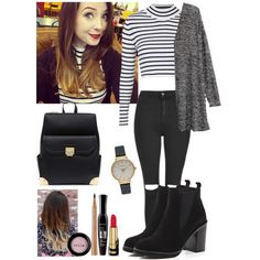 Inspired by Zoella by crazydirectionergirl on Polyvore featuring H&M, Topshop, River Island, Olivia Burton, Bourjois, Stila and Gucci