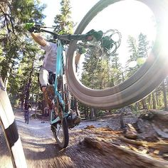ibiscycles:  Loving this shot by our pal Lopes of our pal Smith on his #IbisHD3 shredding Mammoth.  … #regram from @brianlopes: Caught my boy Joel Smith from @xfusionshox getting his manual on behind me today while doing some fork testing up here in @mammothmountain Got this shot with the new @gopro #hero4session mounted to my ankle facing backwards.