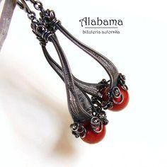 Koralowy twist Biżuteria Kolczyki Alabama