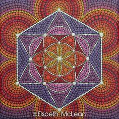 Sacred Geometry Mandala by Elspeth McLean