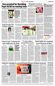 The Times Of India - Patna - 20180419
