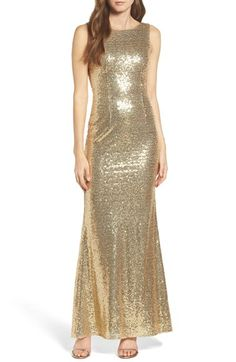 Free shipping and returns on Lulus Sleeveless Sequin Drape Back Gown at Nordstrom.com. Lacquered in scintillating sequins, this sleeveless gown captivates and beguiles in a figure-skimming column that flows to a sweeping mermaid finish. Turn around and elegant draping frames a beautifully bare back.