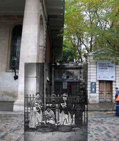 Las vendedoras de flores del Jardin Covent, alrededor de 1877.   18 fotos del antiguo Londres, mezcladas con el actual.
