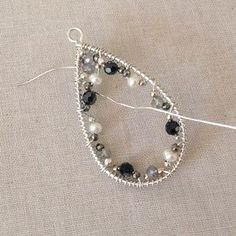 Mosaic gemstone statement earrings DIY: Lisa Yang's Jewelry Blog