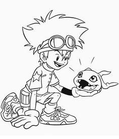 Digimon Tegninger til Farvelægning. Printbare Farvelægning for børn. Tegninger til udskriv og farve nº 34