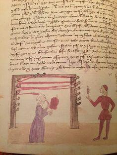 """Trattato dell''arte della seta cap. 43 c. 30v fig. 35 """"Ragione della guidana"""" Medieval Crafts, Early Modern Period, Late Middle Ages, Effigy, 15th Century, Roman Empire, Fiber Art, Renaissance, Needlework"""