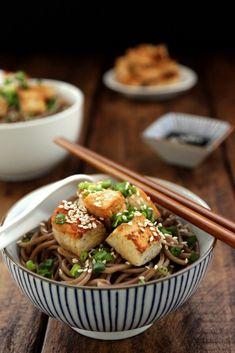 Pan-fried Tofu and Soba Salad