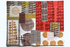 Untitled 1 - Textile Collage by Jen Hewett