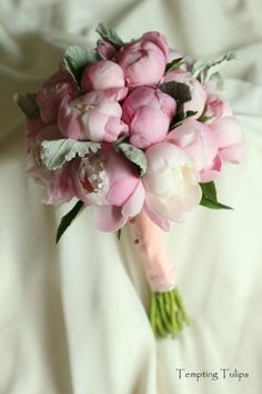 Peony bouquet at Tempting Tulips