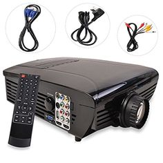 BEST HD Home Theater Multimedia LCD LED Projector 1080HDMI TV DVD Playstation *** Read more reviews of the product by visiting the link on the image.