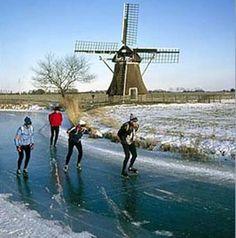 Elfstedentocht Leisure Skating Tour in the Netherlands. Soooo on my bucket list!!!