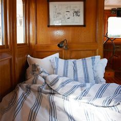 bed in a boat