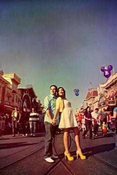 Disneyland engagement photos