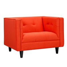 Retro Orange Kaja Arm Chair