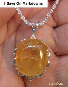 Huge 38.55 ct Royal Imperial Topaz Pendant & Necklace ( Was $ 589.95 ) #Landeau #Pendant