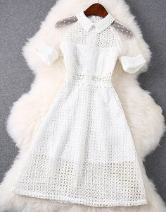 Lace Dress with in White