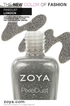 Zoya Nail Polish in London from the Special Edition PixieDust Collection - Matte, Textured and Sparkling!