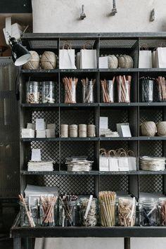 Wire Box Storage in Baileys Homeware, Bridstow, UK, Photos by Rich Stapleton for Cereal Magazine | Remodelista