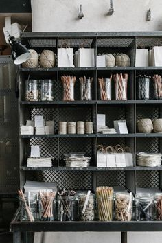 Wire Box Storage in Baileys Homeware, Bridstow, UK, Photos by Rich Stapleton for Cereal Magazine | Remodelista